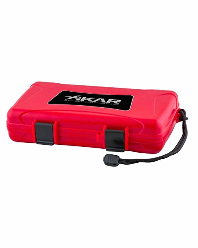 (Cigar Travel Humidor Case Red )