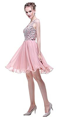 Esvor Strapless Beadings Short Homecoming Dress Prom Dresses Evening Gowns