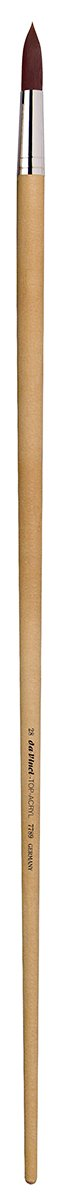 da Vinci Mural Series 7789 Top Acryl Paint Brush, Round Synthetic with 24-Inch Handle, Size 28
