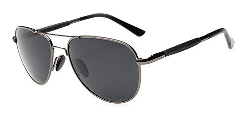 Outray Men's Aviator Polarized Sunglasses 109a1 Gun/Grey
