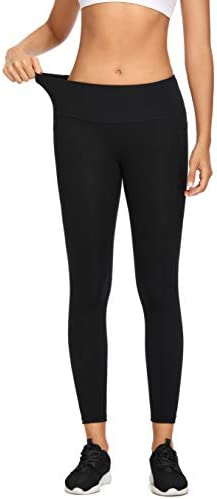 MIKGR Women High Waist Yoga Pants with Pockets Tummy Control Workout Leggings 4 Way Stretch Non See Through 5