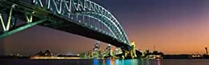 Skyline Harbour Bridge Sydney Australia Poster Print (18 x 6)