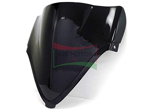 Protek ABS Plastic Injection Black Smoke Double Bubble Transparent Windscreen Windshield Front Visor for 2008 2009 2010 2011 2012 2013 2014 2015 2016 2017 2018 Suzuki Hayabusa GSX1300R RZ RAZ RA