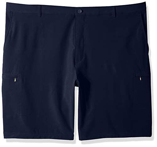 (IZOD Men's Big and Tall Golf Swingflex Cargo Short, Peacoat 50)