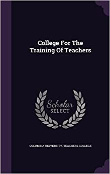 Book College For The Training Of Teachers