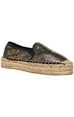 Flat Femme Superdry Crackle Jaune gold Eri Polly Espadrille Form Pvxq5wq