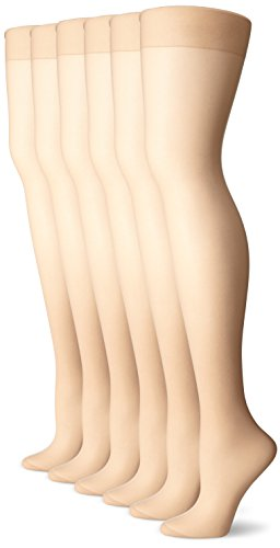 No Nonsense Women's Reinforced Toe Pantyhose , Nude A (Pack of (Reinforced Toe Pantyhose)