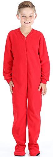 Teen Footie Pajamas (SleepytimePjs Infant & Kids Red Fleece Onesie PJs Footed Pajama)