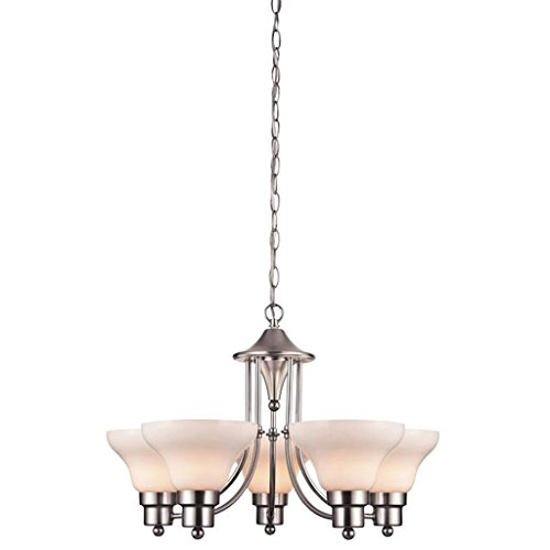 Westinghouse Satin Chandelier - Westinghouse 62280 - 5 Light (Medium Screw Base) 24