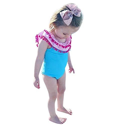 Hunputa Girls One Piece Swimsuits Tassel Ruffle Swimwear Beach Bathing Suit Romper ()