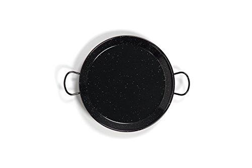 Polished Enamelled Valencian paella pan 20Inch / 50cm /13 Servings by Castevia Imports La Valenciana