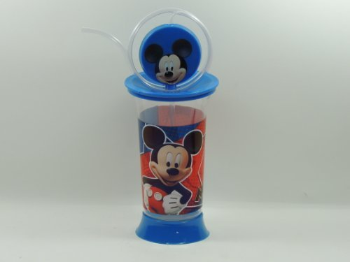 Disney Mickey Mouse Spin and Fun Cup with Silly Straw