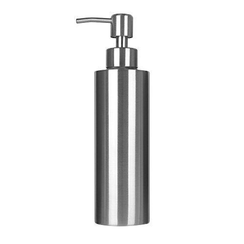 ARKTEK Soap Dispenser, Premium Stainless Steel Liquid and Soap Dispenser for Kitchen and Bathroom (11.8 ounce) -