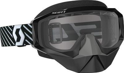 Scott Hustle Adult Snowmobile Goggles - Black/White Clear/One Size by SCOTT