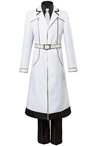 UU-Style Halloween Men's Tokyo Ghoul aneki Ken Investigator Haise Sasaki White Uniform Outfit Cosplay Costume (60's Ken Costume)