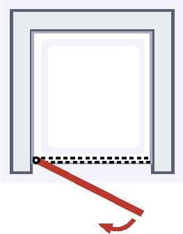 Puerta de ducha giratoria en nicho, mampara de ducha con cristal ...