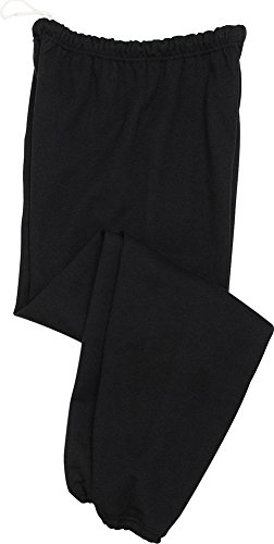 Jerzees 8 oz., 50/50 NuBlend Fleece Sweatpants (973)- BLACK,2XL ()