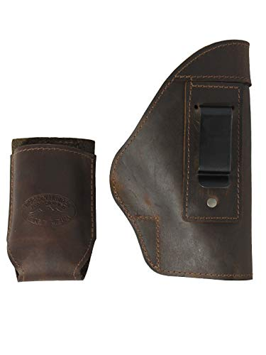 Barsony New Brown Leather IWB Holster + Magazine Pouch for CZ-P01 CZ-P07 Duty ()