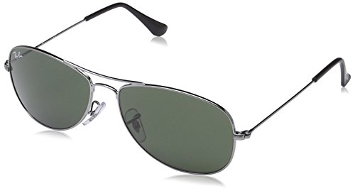 Ray-Ban Men's Cockpit Aviator Sunglasses, Gunmetal, 56 - Sunglasses Ray Ban Pilot