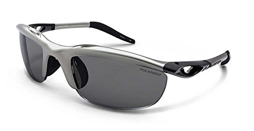 Switch H-wall Wrap Polarized Oval Sunglasses,Matte Silver,58 mm