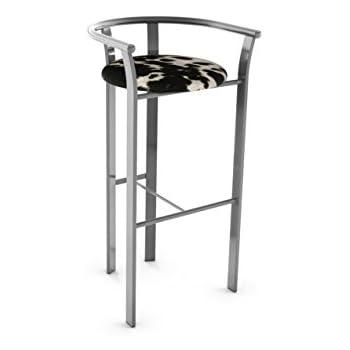 Amazon Com 29 Quot Cowhide Barstools Metal Frame Kitchen