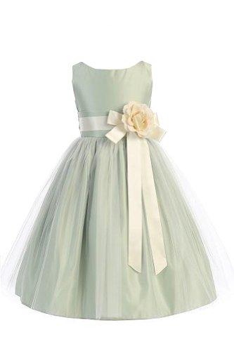 Sweet kids Girls Vintage Satin Tulle Special Occasion  Flower- 6 - - Sweet Vintage