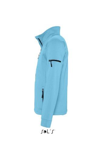 Sols - New look men - Herren Fleece Jacke mit Raglanärmeln , Turquoise , XL