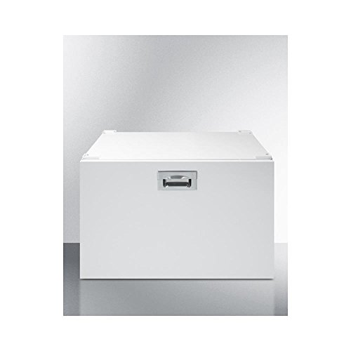 (Summit Pedestal with storage drawer to raise height of select washer/dryers for easier accessibility)