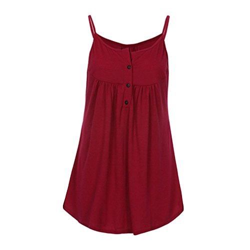 Femmes Summer Avant Manches Blouse Top 2018 Tops Casual sans Woman Volants Fathoi Gilet A Mode Strappy Shirt Rouge Mousseline T p5BqXqxvw7