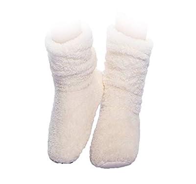 FRALOSHA Women's Slipper Sock Coral Velvet Indoor Spring-Autumn Super Soft Warm Cozy Fuzzy Lined Booties Slippers