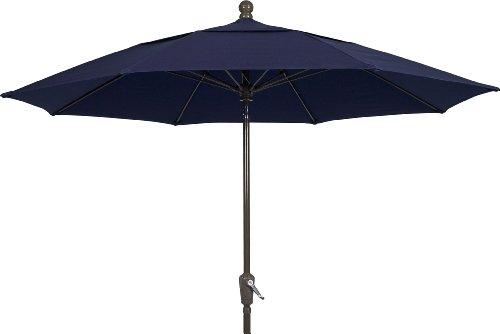 Fiberbuilt Umbrellas Patio Umbrella, 9 Foot Navy Canopy a...