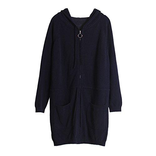 URSFUR Cappotto Cappotto Blu URSFUR cashmere di di cashmere qpSZ4