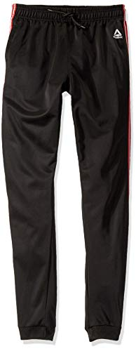 (Reebok Boys' Big Warm Up Track Pant, Black,)