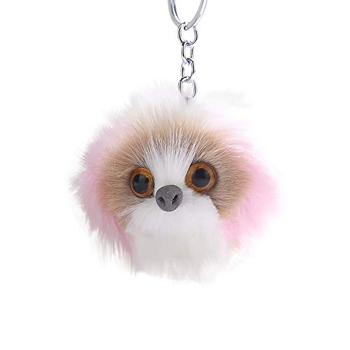 2019 Shock Absorber - Ciyoon 2019 Cute Keychain Pendant Women Key Ring Holder Pompoms Key Chains for Womens Bag Cellphone Car Charm Pendant Decoration