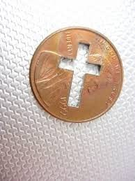 United States Cross Cut One Cent Penny Coin