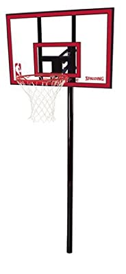 "Spalding NBA In-Ground Basketball System - 44"" Polycarbonate Backboard"
