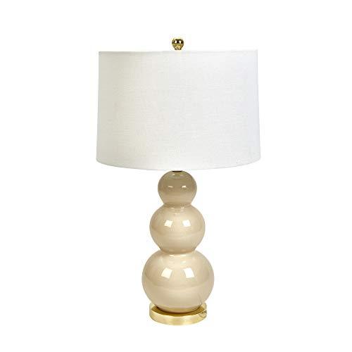 (Sagebrook Home 50045-07 Ceramic Triple Gourd Table, Cream, 30