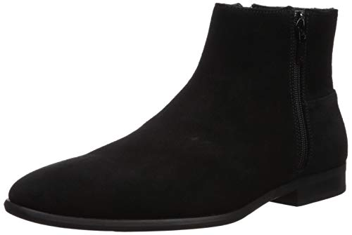 Calvin Klein Men's Luciano Ankle Boot, Black Calf Suede, 13 M US