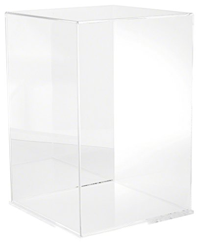 Plymor Brand Clear Acrylic Display Case with Clear Base , 12