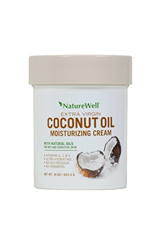 Price comparison product image Naturewell Extra Virgin Coconut Oil Moisturizing Cream, 16 oz