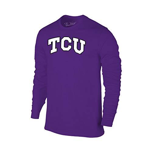 Elite Fan Shop TCU Horned Frogs Long Sleeve Tshirt Arch Purple - M (Christian Texas University)