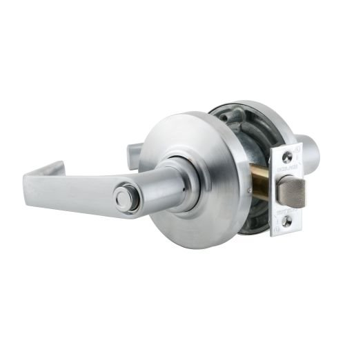 Schlage commercial AL40SAT606 AL Series Grade 2 Cylindrical Lock, Privacy Function, Saturn Lever Design, Satin Brass Finish by Schlage Lock Company