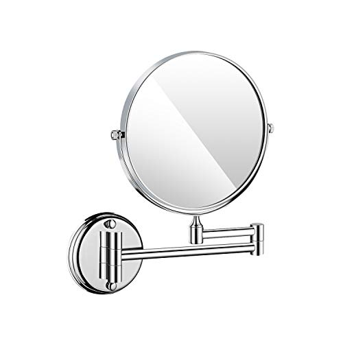 langrun Wall Mounted Makeup Mirror Stainless Steel Folding Double Side 3X Magnifying -