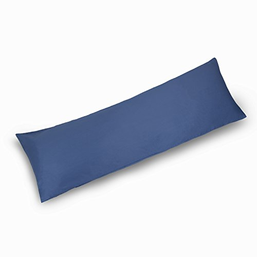 YAROO Body Pillow Cover 21x54 Inch,Body Pillowcase,400 Thread Count,100% Egyptian Cotton,Envelope Closure,Solid,Royal Blue.