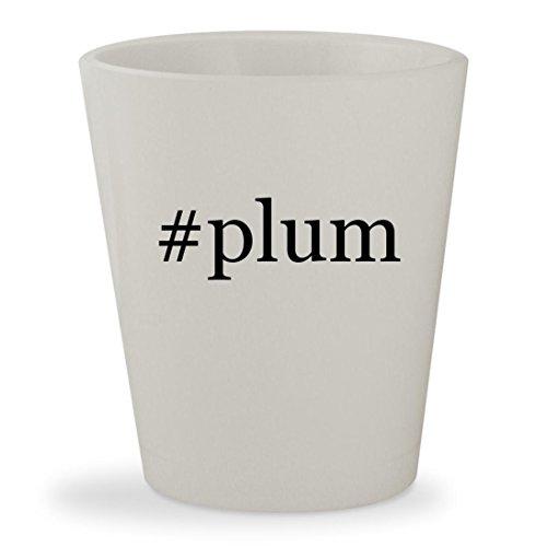 #plum - White Hashtag Ceramic 1.5oz Shot (Sugar Plum By Cocalo)