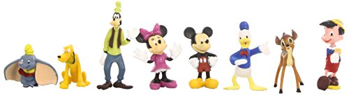 Collectible Teddy Bear Figurine - Beverly Hills Teddy Bear Company Disney Classic Characters Toy Figure Playset, 8-Piece