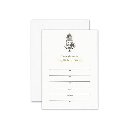 William Arthur Whimsical Cake Bridal Shower Fill-In Invitation (B107044) (Arthur William Envelopes)
