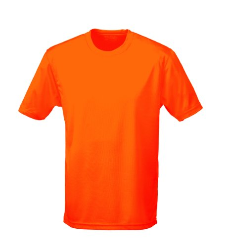 Just Cool - Performance T-Shirt, atmungsaktiv XXL,Electric Orange