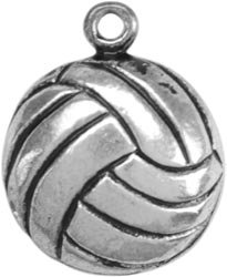 Bulk Buy: Darice Metal Charms Volleyball 12/Pkg TS1-43 (3-Pack)