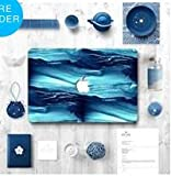 MacBook 12'' Top Skin Cover Vinyl Sticker Removable Laptop Skin Decal - Blue Effect